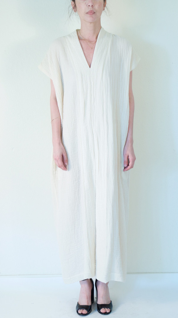 Horses Atelier Long Smoking Dress in Ivory