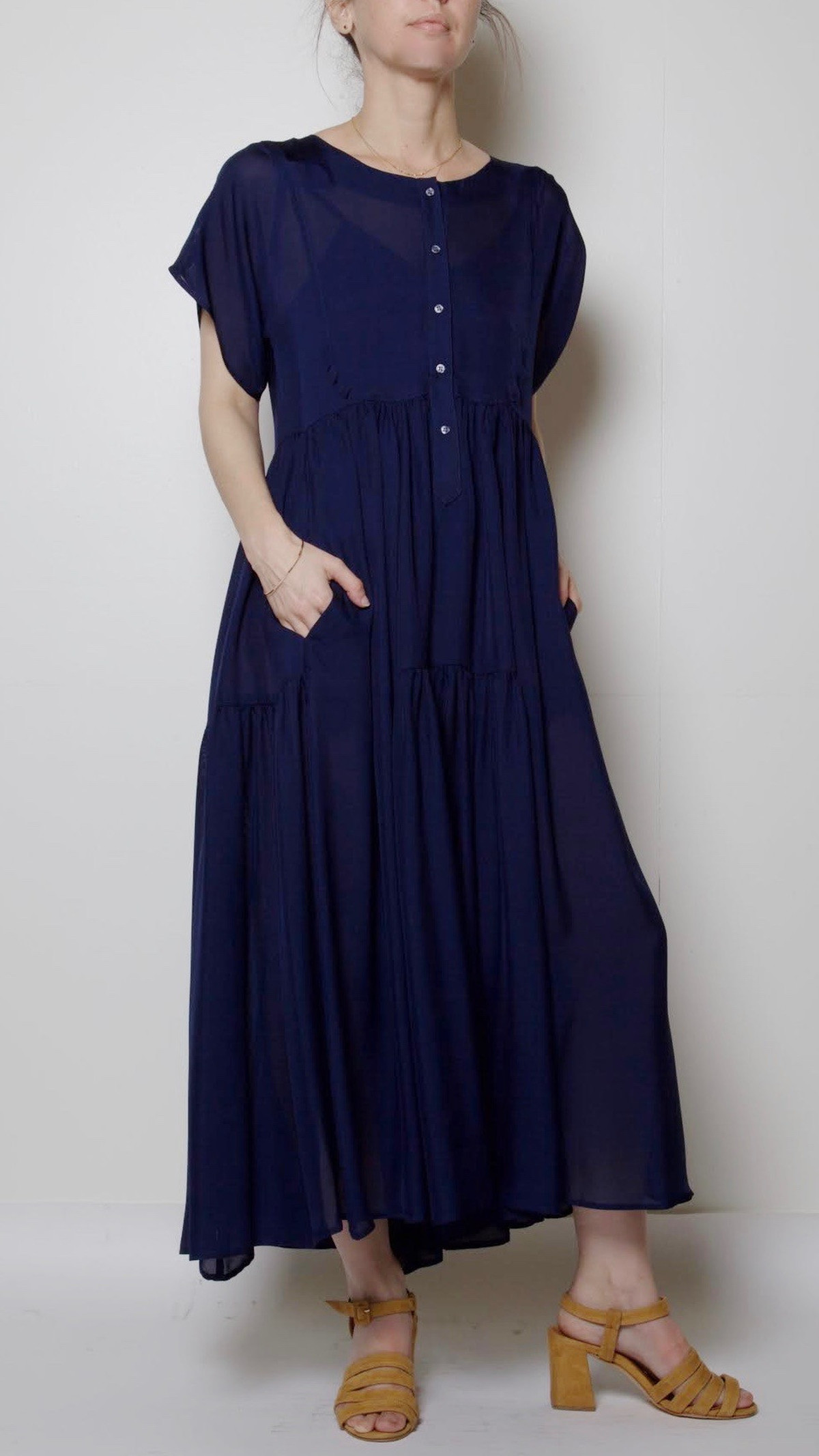 Florenza Dress In NavyGarmentory Maryam Zadeh Nassir 4Sj35cRAqL