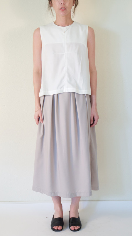 Wolcott : Takemoto Audrey Skirt in Grey