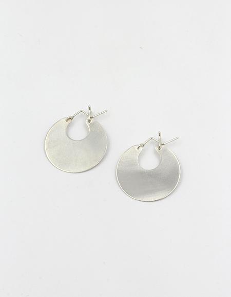 Lila Rice Disc Earrings - Sterling Silver