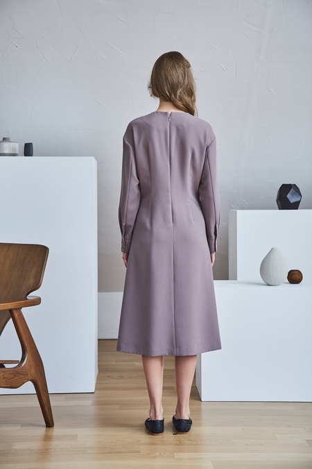 Maison De Ines CORSET WAIST DRESS - Cocoa