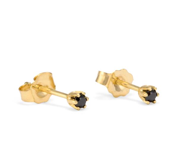 Satomi Kawakita 14K Black Diamond Studs
