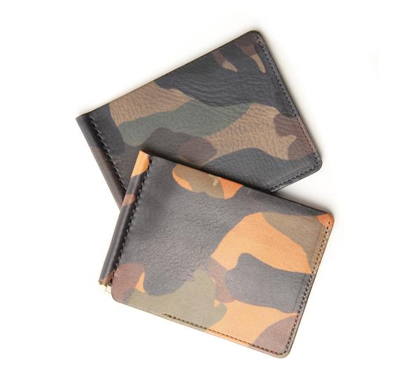 Anchor Bridge AB Short Money Clip Grey Camo Wallet