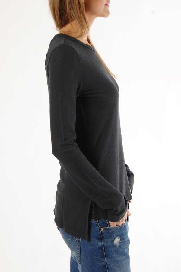 Faded Black Vent Tee  by Crippen