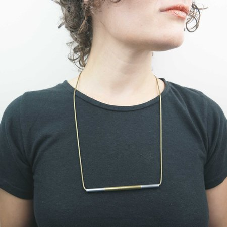 Cosmic Twin Double Bar Necklace