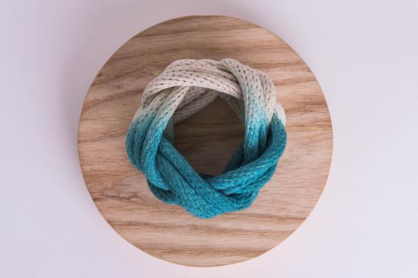 Tanya Aguiñiga - Dipped-Rope Knot Bracelet - Teal