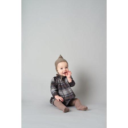 kids belle enfant sabine blouse - grey/brown