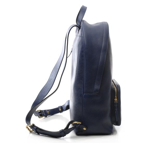 Lotuff Leather Indigo Zipper Backpack