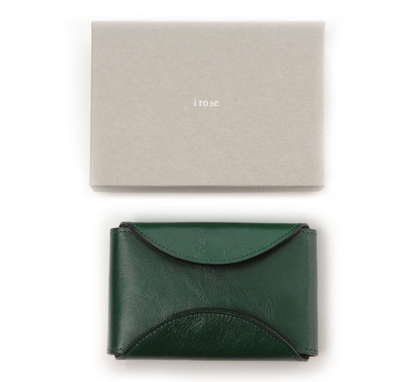Green Fold Card Case by I Ro Se