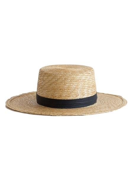 Janessa Leone Klint Boater Hat - Beige