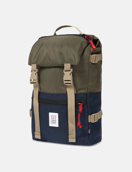 Topo Designs Rover Pack - Olive Green /Navy Blue