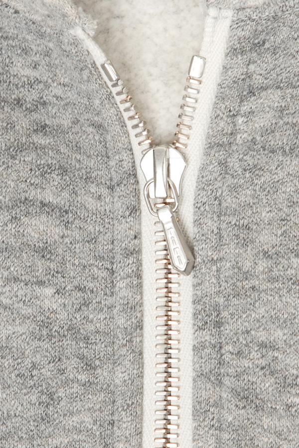 Jeffrey 2  Mix Melange Zip Hooded Fleece Sweatshirt by Filmelange