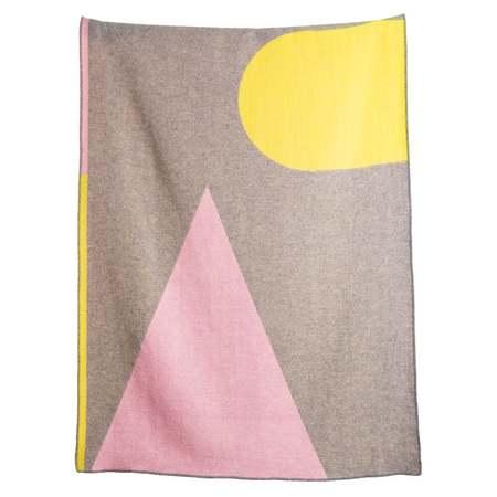 ZigZag Zurich Konstructiv Wool Blanket - Pink/Yellow/Purple