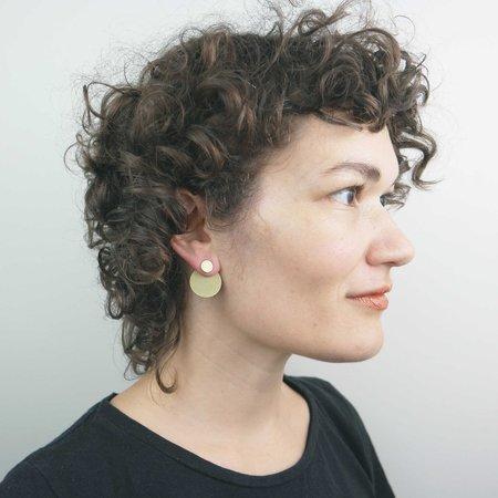 Natalie Joy Circular Ear Jacket - Brass
