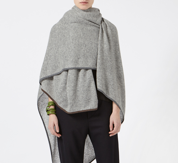 Oyuna Soft Grey Daya Cashmere Travel Blanket