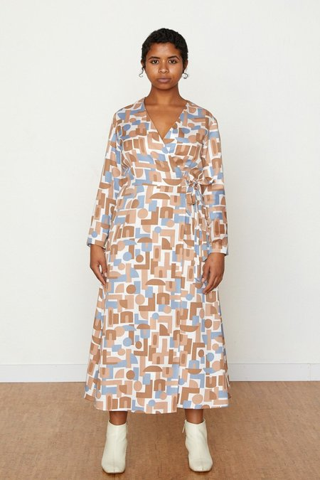 North Of West Decades Louisa Wrap Dress - Natural