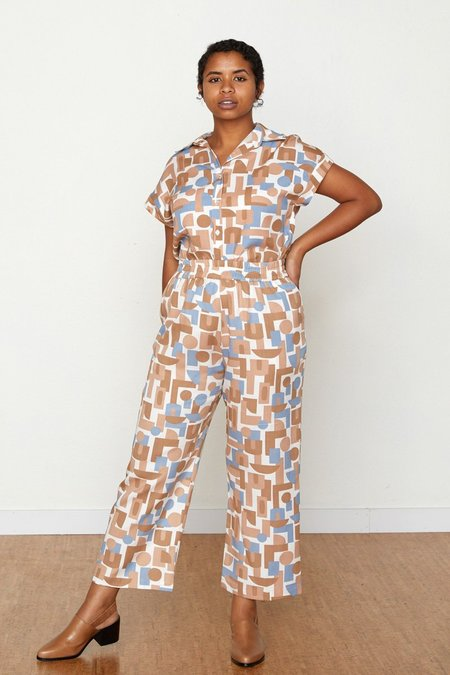 North Of West Decades Patricia Gathered Pant - Natural