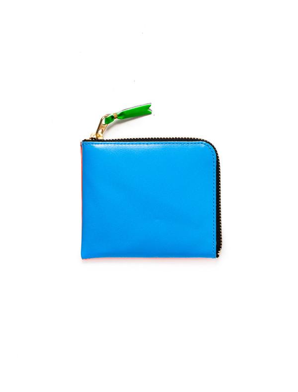Comme des Garcons Super Fluo 3/4 Zip Wallet - Blue/Orange