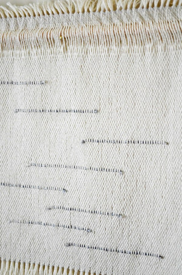 Ana Isabel Textiles Gray Lines Silk Weaving