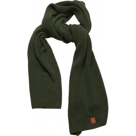 knowledge cotton apparel JUNIPER ribbing scarf - Green forest