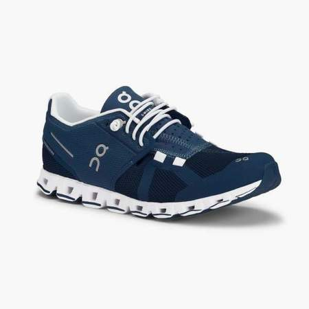 On Running Cloud Shoe - Denim/White