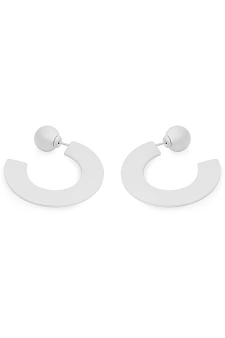 YUUN Zeta Hoop Earrings - Sterling Silver