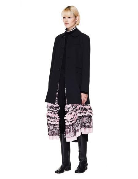 Comme des Garcons CdG Black Long Jacket With Pink Dress