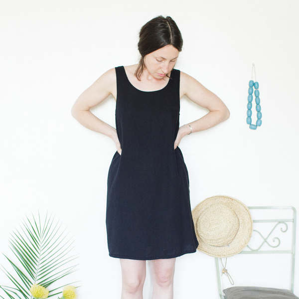 Unknown Basic Tank Dress<br>Black