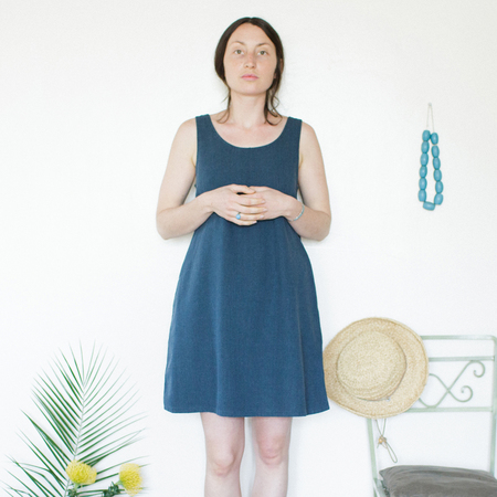 Me & Arrow  Basic Tank Dress UltraMarine