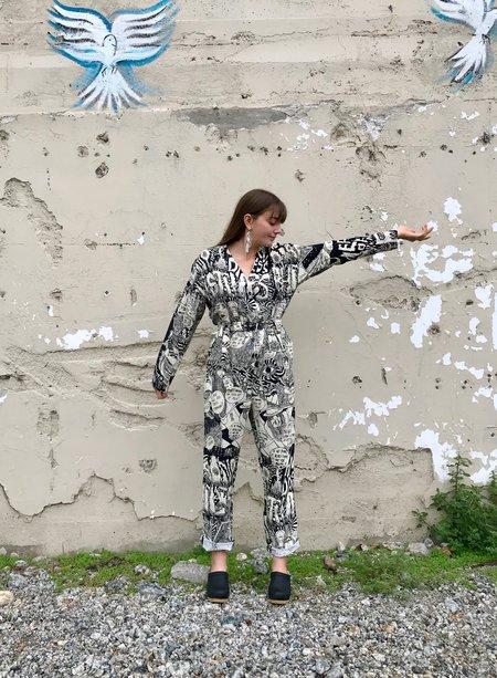 ad hoc penticton Glitch Jumpsuit - Black Chatter