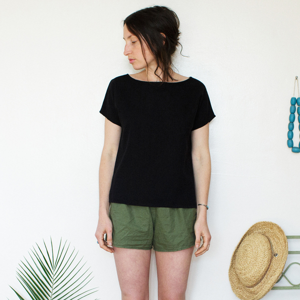 Unknown Basic Tee<BR>Black