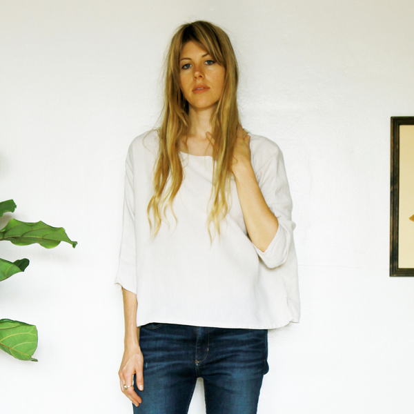 Unknown Dolman 3/4 Sleeve Top<br>Ivory