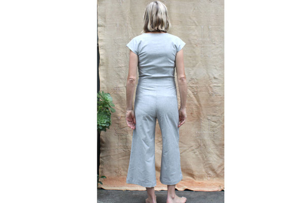 pietsie Atacama Jumpsuit in Gray Stripe