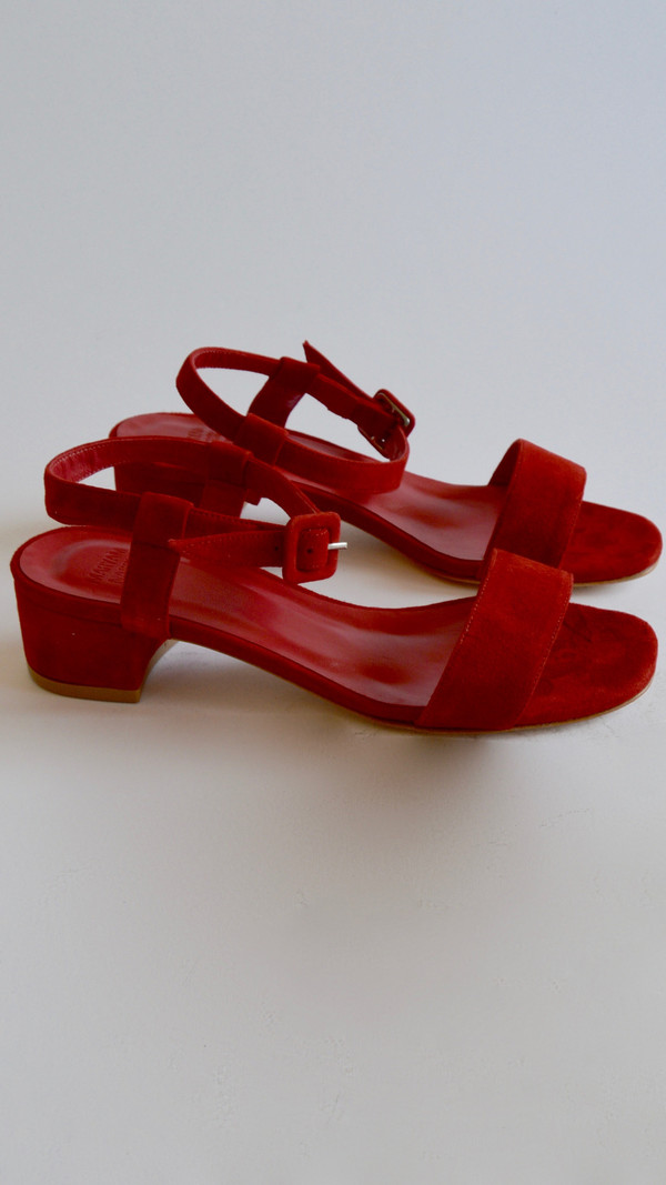 Maryam Nassir Zadeh Sophie Sandal in Red Suede