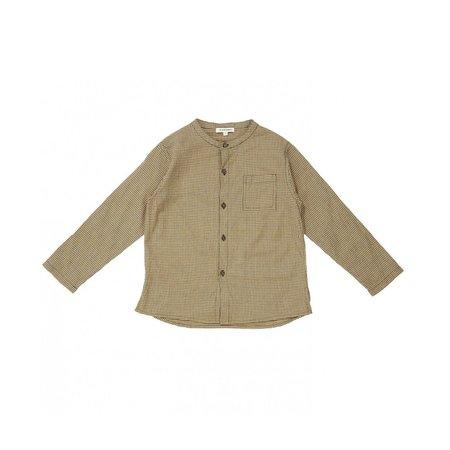 Kids Caramel Momus Shirt - Forest Microcheck