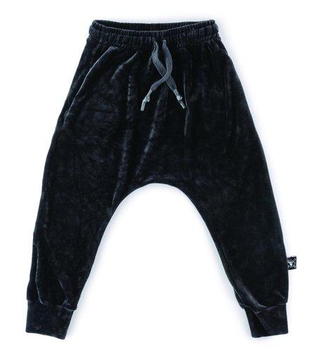 Kids Nununu Velvet Baggy Pants - Black
