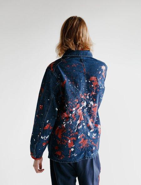 Needles D.N. Coverall - Paint Splatter Indigo