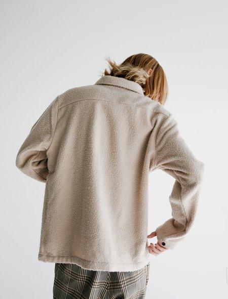Evan Kinori Casentino Wool Field Shirt - Cream