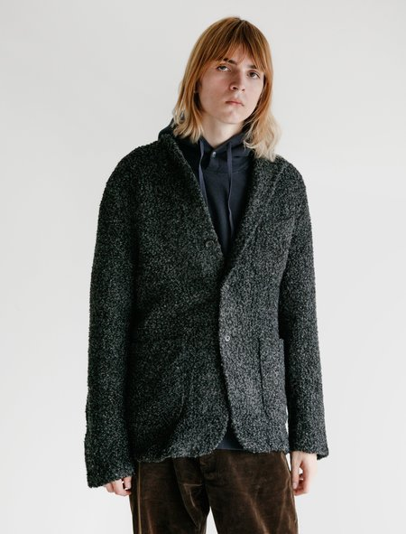 Engineered Garments Poly Acrylic Curly Knit Jacket - Charcoal