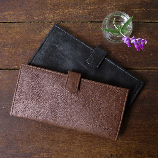 Erica Tanov Leather Long Wallet