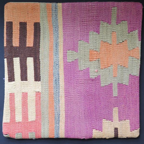 Kilim 16x16 Turkish pillow 26