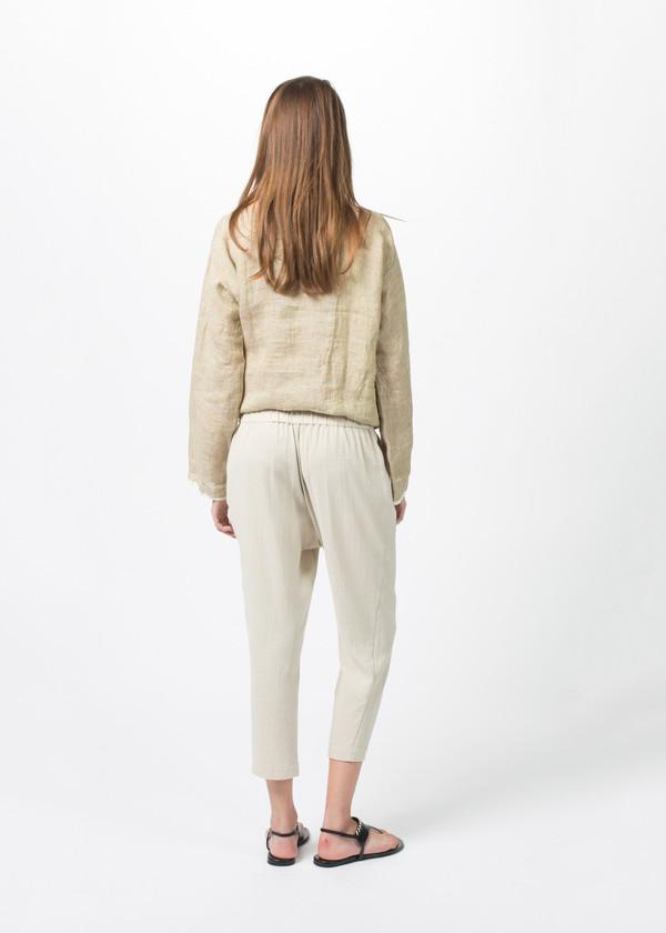 Evam Eva Double Cloth Tuck Pants