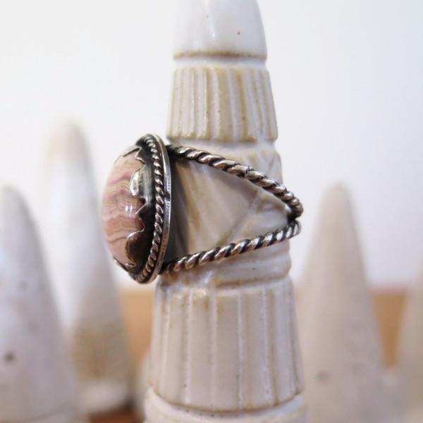 Gem spell Rhodochrosite Ring