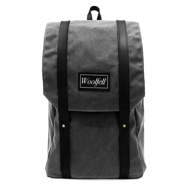 Woolfell Warrior Backpack Gray and Brown