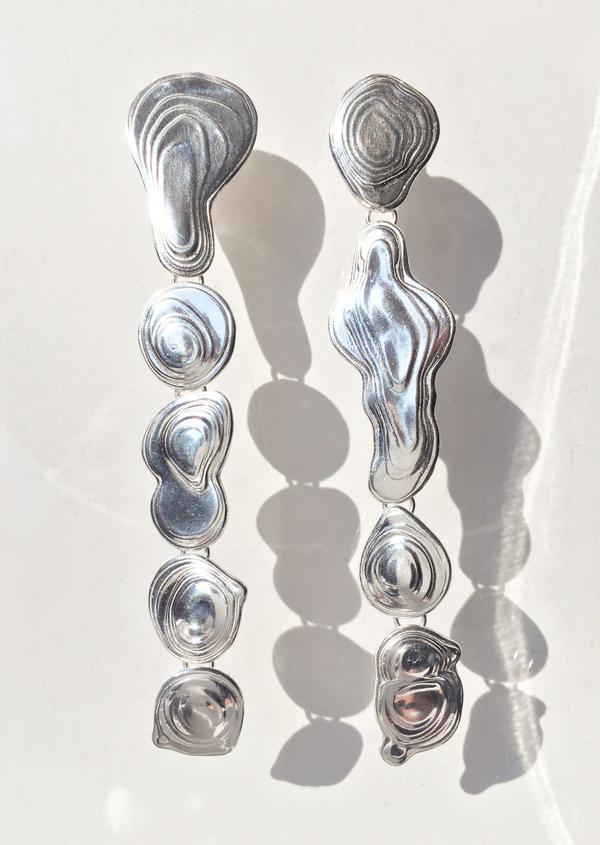 Leigh Miller Sterling Silver Drip Earring