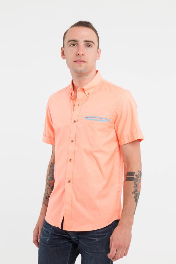 Men's General Assemby Contrast Dime Pocket Shirt in Orange