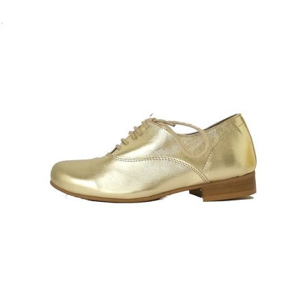 Kids lmdi collection leather oxford shoes - gold