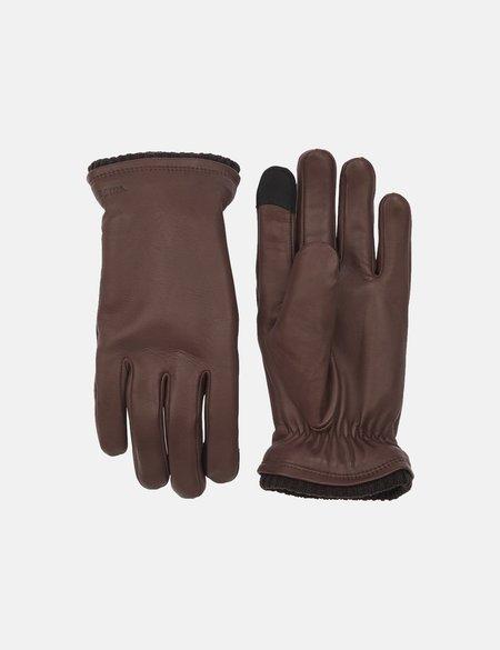 Hestra John Hairsheep Leather Gloves - Brown