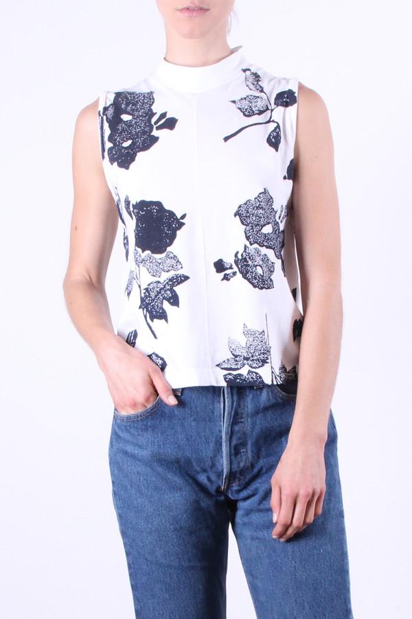 Calder Blake Eliot Tank in White Flower Print