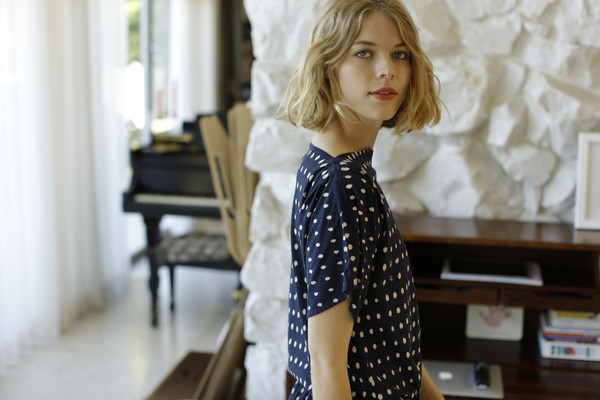 Calder Blake Georgia Dress in Dot Print